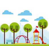 Beautiful children playground icon. Vector illustration design Royalty Free Stock Photography