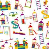 Beautiful children playground icon Stock Photos
