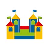 Beautiful children playground icon Royalty Free Stock Photography