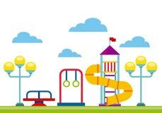 Beautiful children playground icon Royalty Free Stock Image