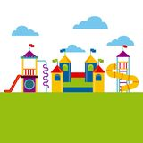 Beautiful children playground icon Royalty Free Stock Images
