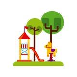 Beautiful children playground icon Stock Images