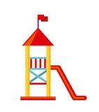 Beautiful children playground icon Stock Image