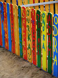 Beautiful children's fence with your signature Royalty Free Stock Photos
