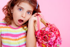 Beautiful children with surprise gesture Stock Photography