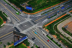 Open China city intersection. China shandong beautiful coastal scenery, it is a good place for summer tourism Stock Image