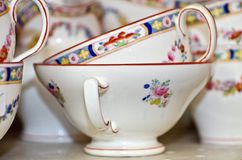 Beautiful chinaware on shelves of an antique shop - 1. Beautiful chinaware on shelves of an antique shop on Long Beach peninsula stock image