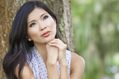 Beautiful Chinese Asian Young Woman Girl Royalty Free Stock Photography