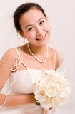 Beautiful Chinese bride. In her wedding dress Stock Image