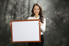 Beautiful Chinese Business Woman Displays Product Stock Photos