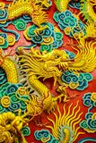 Beautiful Chinese dragons sculpture at Anek Kusala Sala (Viharn. Sien) Chinese temple in Pattaya, Thailand. It was built in 1987 and is one of popular tourist royalty free stock photos