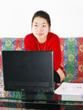 A beautiful Chinese girl Stock Photography