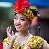 Beautiful Chinese girl Royalty Free Stock Photography