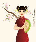 Beautiful Chinese Girl. Illustration of Beautiful Chinese Girl Stock Images