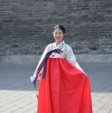 Beautiful Chinese Girl in Traditional Dress Royalty Free Stock Photos