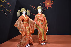 Beautiful Chinese or Japanese clothing at the Festival of the Orient in Rome Italy Royalty Free Stock Photo