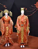 Beautiful Chinese or Japanese clothing at the Festival of the Orient in Rome Italy Stock Photo