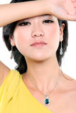 Beautiful chinese model Stock Images