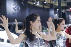 Beautiful chinese model dancing Stock Images