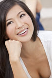 Beautiful Chinese Oriental Asian Woman Smiling Stock Photography