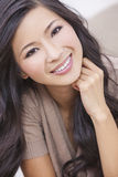 Beautiful Chinese Oriental Asian Woman Smiling Royalty Free Stock Image