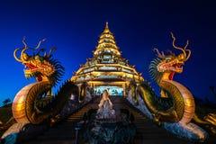 Free Beautiful Chinese Pagoda In The Night At Hyuaplakang Temple Stock Image - 129090431