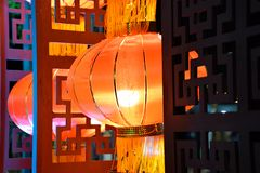 Beautiful Chinese red lanterns royalty free stock images