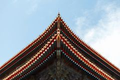 Beautiful Chinese roof. Royalty Free Stock Photo