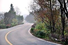 Beautiful Chinese rural road Stock Photo