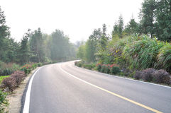 Beautiful Chinese rural road Royalty Free Stock Photo