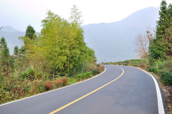 Beautiful Chinese rural road Royalty Free Stock Image