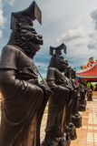 Beautiful Chinese's style sculptures at Anek Kusala Sala (Viharn. Sien), Thai-Chinese temple in Pattaya, Thailand. It was built in 1987 and is one of popular royalty free stock images