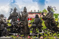 Beautiful Chinese's style sculptures at Anek Kusala Sala (Viharn. Sien), Thai-Chinese temple in Pattaya, Thailand. It was built in 1987 and is one of popular royalty free stock image