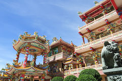 The beautiful Chinese shrine and the blue sky Royalty Free Stock Photo