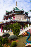 Beautiful chinese temple on blue sky.  Royalty Free Stock Photos