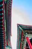 Beautiful Chinese temple roof detail with colorful architectural Stock Photo