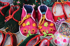 Beautiful Chinese Tiger Shoes Stock Photo