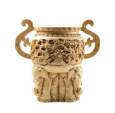 Beautiful chinese vase made of ivory Royalty Free Stock Photo