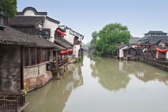 Beautiful Chinese water town Stock Images