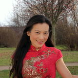 Beautiful Chinese woman Royalty Free Stock Photography