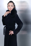 Beautiful Chinese Woman. A beautiful, young Asian woman in a high fashion pose Stock Images