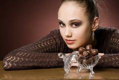 Beautiful chocolate cravings Royalty Free Stock Photos
