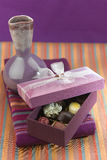 Beautiful chocolates gift box Stock Images
