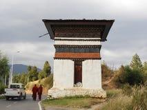 Beautiful chorten in Bhutan royalty free stock photography