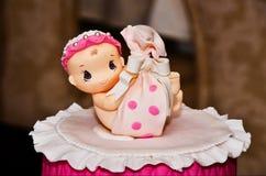 Beautiful christening cake Royalty Free Stock Photography