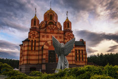 Beautiful Christian church. Temple of the Mother of God. Ukraine. Dnipro city stock image