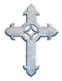 Beautiful Christian cross ornament design Stock Image