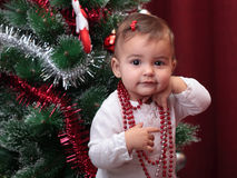 Beautiful christmas baby Stock Photos