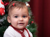Beautiful christmas baby Stock Image