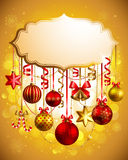Beautiful christmas background. With place for text. Vector illustration Royalty Free Stock Images